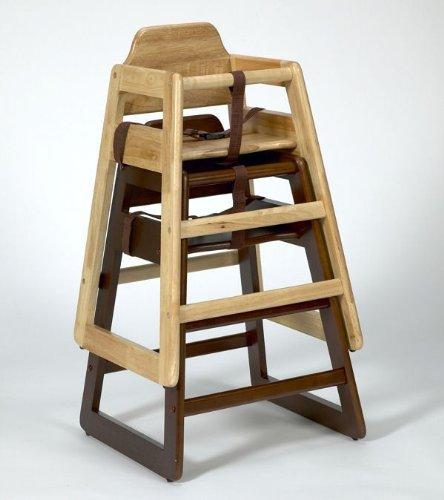 Hygieneprofi Top-Select Kinder Hochstuhl Holz Farbe:Natur Stapelbar in Natur und Walnuss
