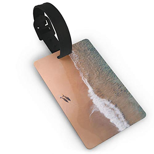(Beach Walk Shadow Luggage Tag Travel Accessories Business Card Holder Quickly Spot Luggage Suitcase For Boy,Girl,Man,Woman)
