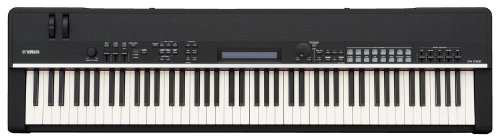 Yamaha cp4 stage piano with natural wood keys and sustain for Yamaha fc3a review
