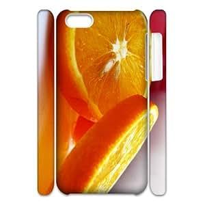 Cell phone 3D Bumper Plastic Case Of Orange For iPhone 5C