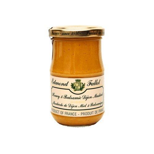 Honey Balsamic Mustard Fallot French Miel et Vinaigre Balsamique Mustard 7oz jar, Three by Edmond Fallot