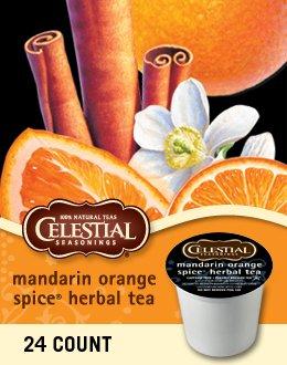 Celestial Seasonings Mandarin Orange Spice Herbal Tea(3 Boxes of 24 K-Cups) by Celestial Seasonings