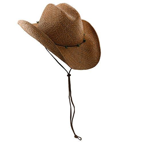 SCALA Women's Raffia Western Hat, Chocolate One Size ()