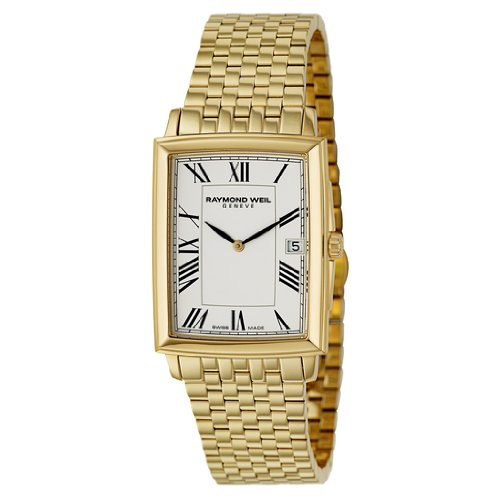 Gold Rectangular Wrist Watch - 8