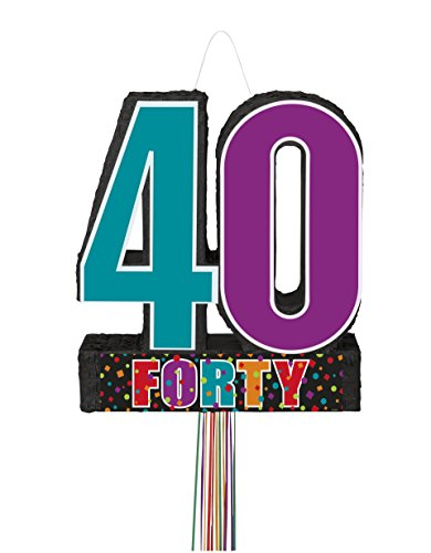 Birthday Cheer 40th Birthday Pinata, Pull String -