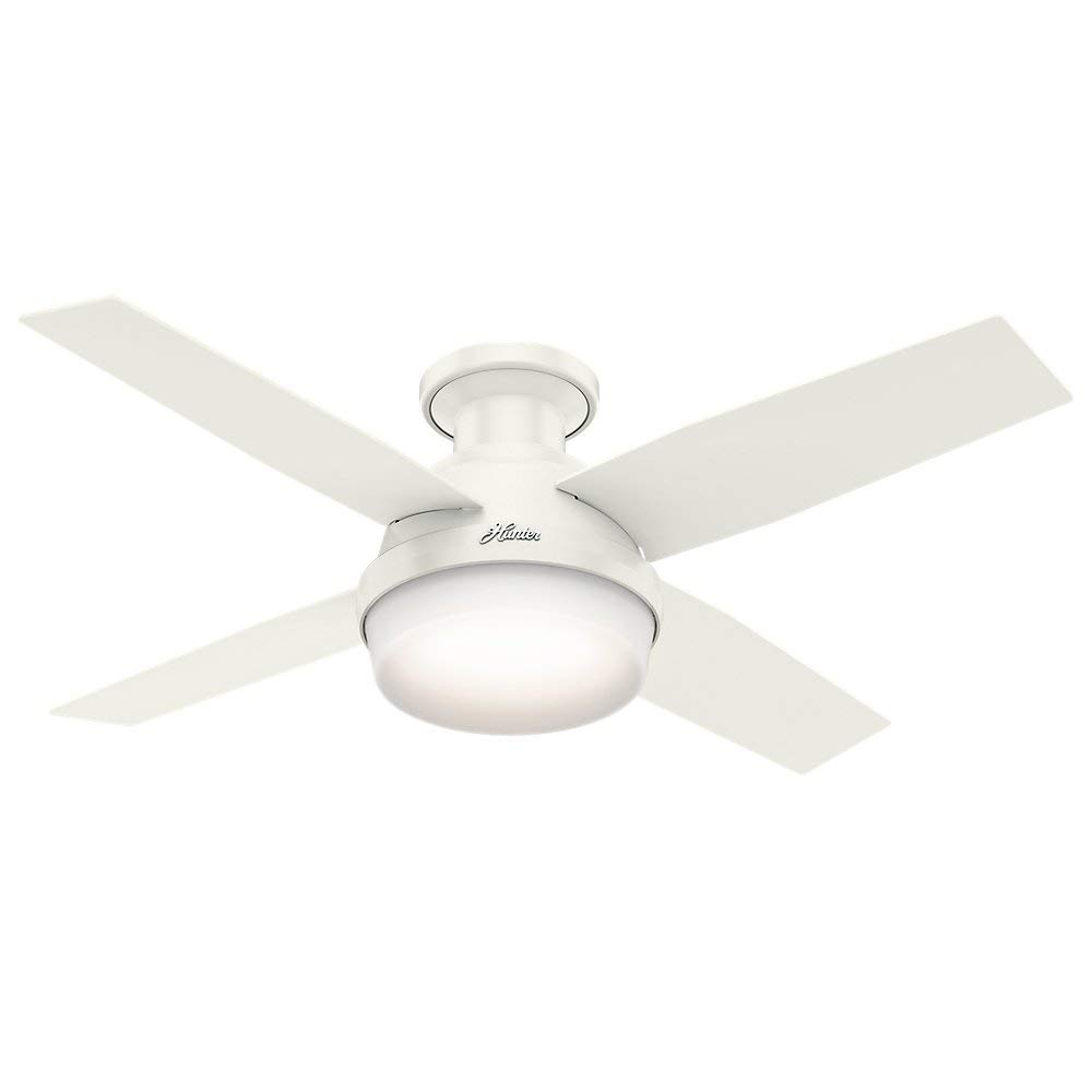 Hunter 44'' Dempsey Low Profile with Light Fresh White Ceiling Fan