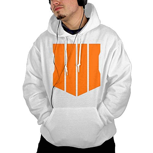 Call of Duty Black Ops 4 Men's Pullover Hoodie White