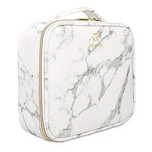Best Epic Trends 41wGIinS9rL._SS300_ Relavel Marble Makeup Bag Makeup Organizer Bag Travel Train Case Portable Cosmetic Artist Storage Bag with Adjustable…