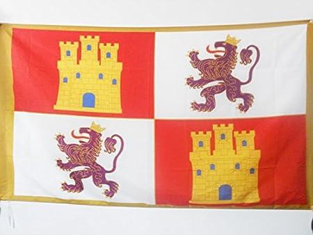 AZ FLAG Bandera de la Corona DE Castilla 1230-1715 90x60cm para Palo - Bandera CASTELLANA Real 60 x 90 cm: Amazon.es: Jardín