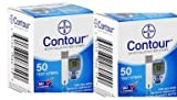 Bayer Contour 100 Test Strips 2 Boxes of 50's Exp Year or More Sold By Diabetic Corner