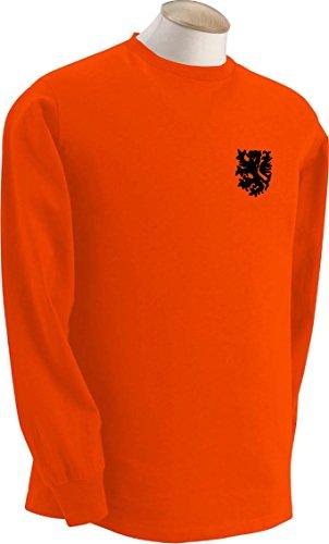 Dutch Holanda Netherlands Equipo De Fútbol Retro Manga Larga Camiseta–Todos los tamaños disponibles