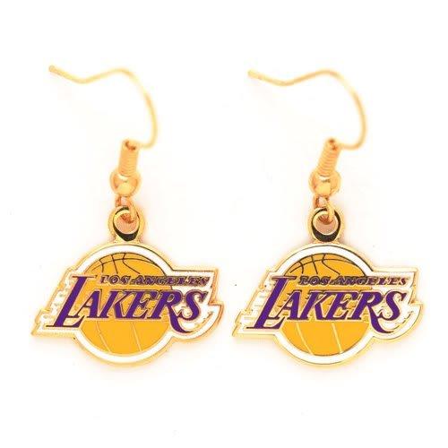 WinCraft NBA Los Angeles Lakers Earrings Jewelry Card