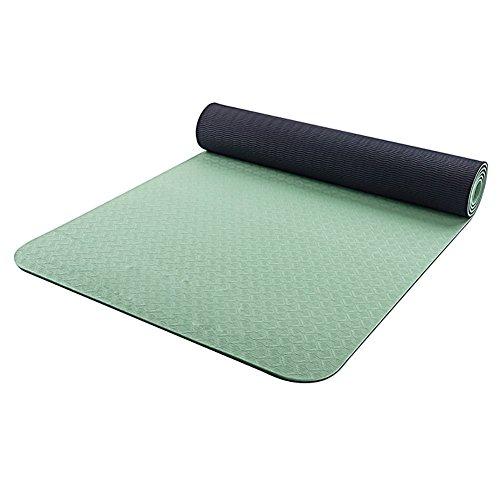Tapis de yoga LXF anti-dérapant Tapis de fitness TPE Tapis extérieur Recto-verso double face Tapis Trois couleurs en option 6mm d'épaisseur