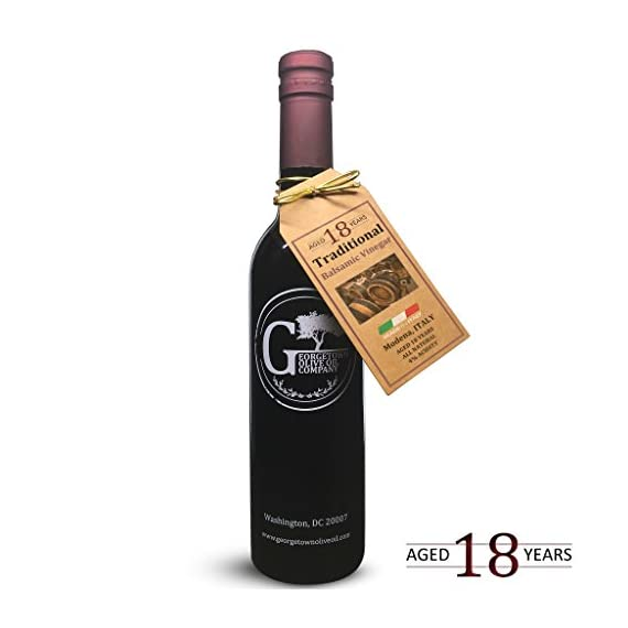 18 YEAR AGED Traditional Balsamic - ITALY 1 Our finest grade of aged balsamic vinegar from Modena, Italy is produced in the Traditional Style. It is aged for up to 18 years in chestnut, oak, mulberry and ash barrels Our naturally infused balsamic vinegar is caramel color-free, free of added sugar or thickeners and aged in wood barrels of the traditional style in Modena, Italy. All natural, gluten-free, no msg, no alcohol, and free of any peanut products.