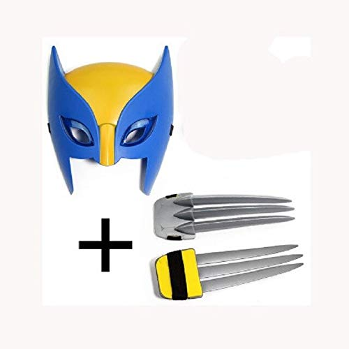 VIET FG Hot Cake X-Men Wolverine Claws Led Mask Figure Toy Children Cartoon X-Men Logan Party Cospaly Claws&Mask Brinquedos Gift -Complete Series Merchandise