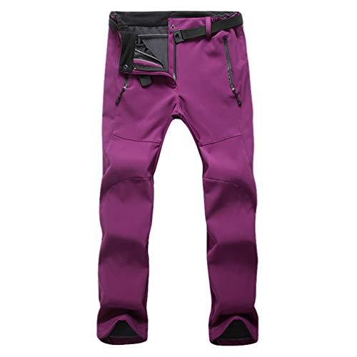 Pantalon Violet Trekking Air femme Chaud Homme Pantalons Randonnée Plein Ski Femmes De Softshell Doublé Polaire Cayuan Respiration En Imperméable wEY4qT6