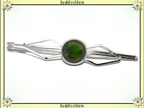 1 pin clip corbata resina traje Ginko japonés verde latón plata ...