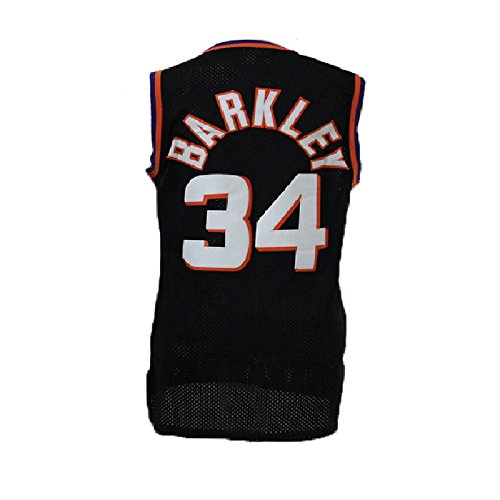 Morisra Barkley Jerseys Mens Phoenix 34 Jersey Charles Basketball Jerseys Black  Xxl