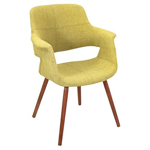 WOYBR CHR-JY-VFL GN Bent Wood, Woven Fabric Vintage Flair Chair, Green