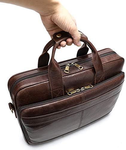 メンズレザーバッグメンズブリーフケースオフィスバッグメンズバッグメンズラップトップバッグ男性用トートブリーフケースハンドバッグ