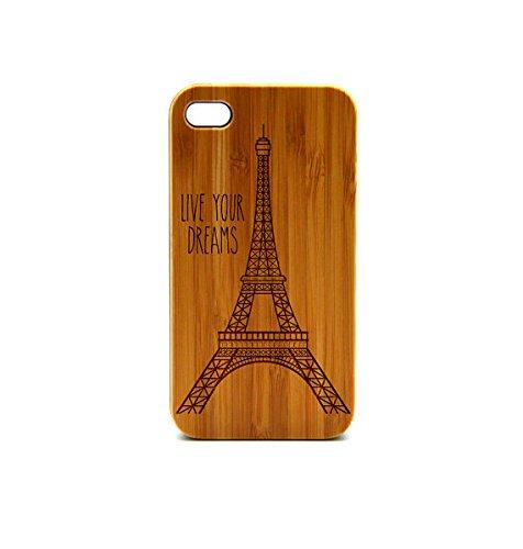 Krezy Case Real Wood iPhone 5 Case, Eiffel tower iPhone 5 Case, eyes iPhone 5 Case, Wood iPhone Case,