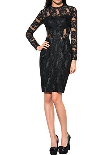 Etui Partykleid Schwarz Ivydressing Langarm Ballkleid Tanzenkleider Abendkleider Damen Kurz Spitze Elegant nX4UqzFXO
