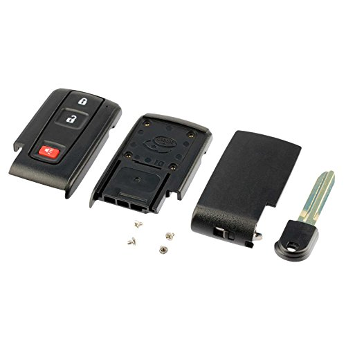 USARemote fits Toyota Prius Key Fob Cover Case Shell Replacment with Blank Key 2004-2009
