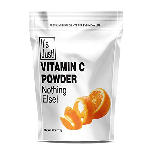 It's Just – Vitamin C Powder, Food Grade, Non-GMO, Ascorbic Acid, Immune Support, Homemade Cosmetics (11oz)