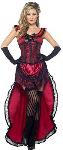Western Authentic Brothel Babe Adult Costume Red - Medium ()