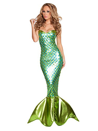Roma Costume Women's 1 Piece Sexy Sea Creature, Turquoise...