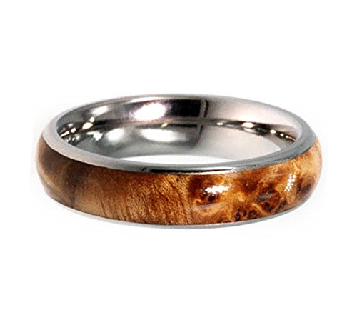 Deer Antler, Ironwood, Titanium 8mm Comfort-Fit Titanium Wedding Band, Size 10 by The Men's Jewelry Store (Unisex Jewelry) (Image #4)
