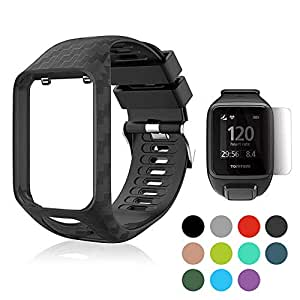 Replacement Bands for Tom Tom, Womdee Tom Tom Watch Strap Soft Silicone Watchbands Straps Sport Strap Wristband for Tom Tom Adventurer/Runner 2/Runner 3/Spark 3/Golfer 2