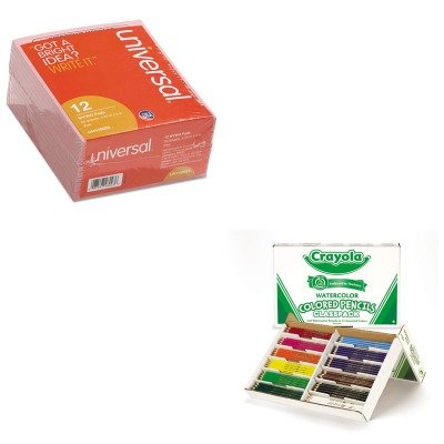 KITCYO684240UNV48023 - Value Kit - Crayola Watercolor Wood Pencil Classpack (CYO684240) and Universal Important Message Pink Pads (UNV48023)