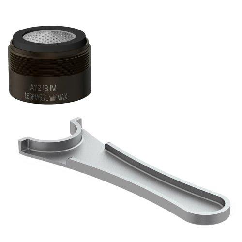 Danze DA613073NRB Junior Male Faucet Aerator Kit with Laminar Flow Pattern, 1.5 GPM, Oil Rubbed Bronze
