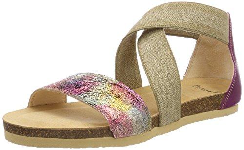 Think! WoMen Shik_282593 Closed Toe Sandals, Black, 6 UK Pink (Magnolia/Kombi 37 Magnolia/Kombi 37)