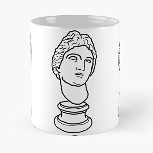 Apollo Roman Bust God Cartoon Vaperwave Vaper Wave - Best 11 oz Coffee Mug Cheap Gift