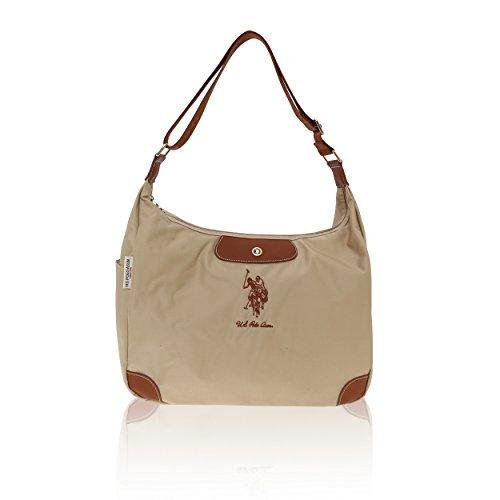 U.S.Polo Assn. Sac à bandoulière Femme - 37-40x27x14 Pouces Beige