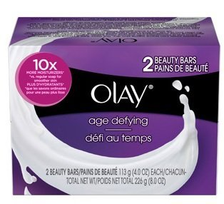 (2 Pack) Olay Age Defying Beauty Bars Soap, 4 Oz, 2 Count