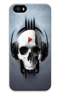 iPhone 5 5S Case Skull Player Funny Lovely Best Cool Customize iPhone 5 Cover