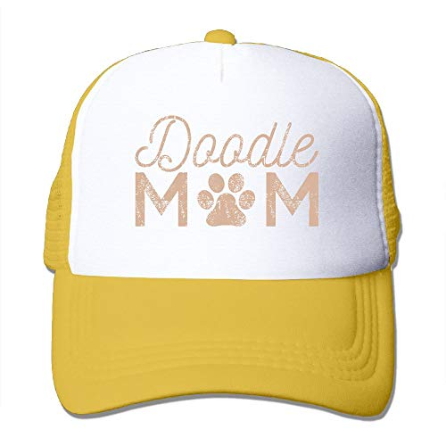 ONE-HEART HR Doodle Mom Adult's Baseball Cap Mesh Adjustable Trucker Hat for Men Women ()