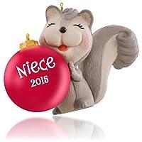 Hallmark QGO1299 Niece Cute Little Squirrel Ornament