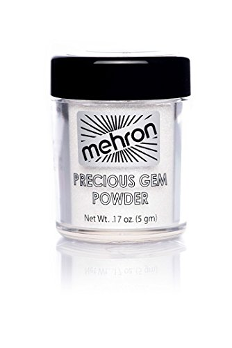 Mehron Precious Gem Glitter Powder 0.17 Oz | Silky, Bright Colors, Shimmering & Sparkling Loose Eyeshadow | For Face, Body & Nails | Add Intensity, Improve Looks & Create Dramatic Effect (Diamond)