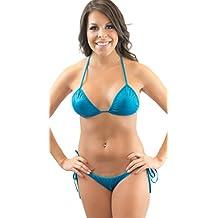 Lena Style Turquoise Triangle Erotic Micro Bikini Swimsuit Thong Bikinis