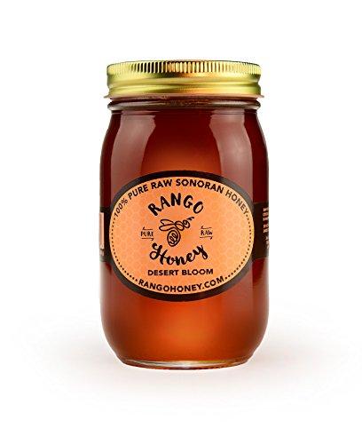 Desert Honey - Gourmet Sonoran Desert Honey - Desert Bloom Flavor - 1.5 lb. Jar - -100% Pure, Raw & Unfiltered - Award Winning - By Rango Honey - Good For Skin, Sore Throats & Minor Wounds
