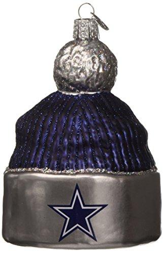 Old World Christmas Glass Blown Ornament Dallas Cowboys Beanie ()