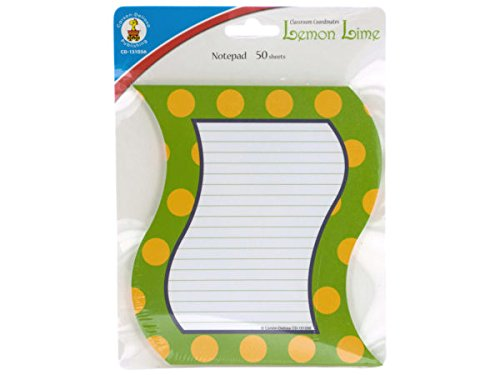 Kole Imports OP829-72 6.25 x 5.5 in. Lemon Lime Notepad44; Pack of 72