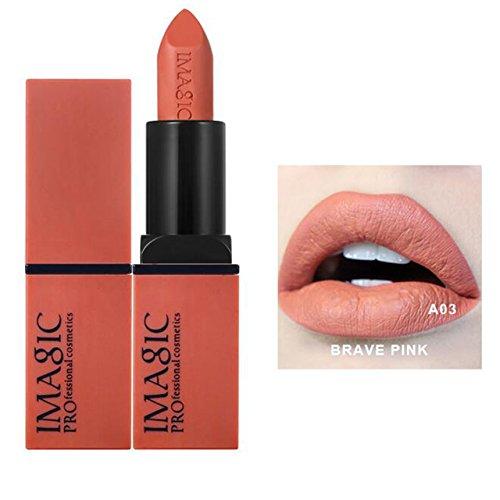 CCbeauty 3pcs Moisturizing & Matte Makeup Lipsticks Set Matte Lipstick Long Lasting,Soft Nudes, 0.36Oz, 1