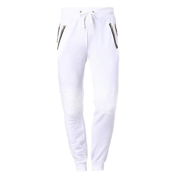 YanHoo Pantalones de chándal Ocasionales del algodón de Patchwork ...