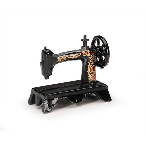 (Timeless Minis Miniatures- Black Singer Sewing Machine - 1.25 inches)