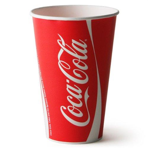 Salida Thali - 80 x Coca/Coca Cola vasos de papel 9 oz/250 ...